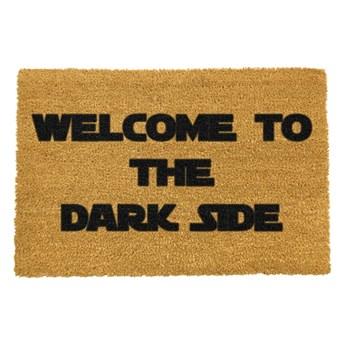 Wycieraczka z naturalnego kokosowego włókna Artsy Doormats Welcome to the Darkside, 40x60 cm