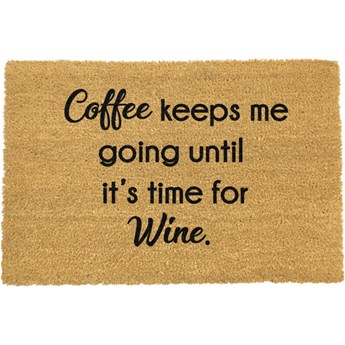 Wycieraczka Artsy Doormats Coffee Keeps Me Going, 40x60 cm