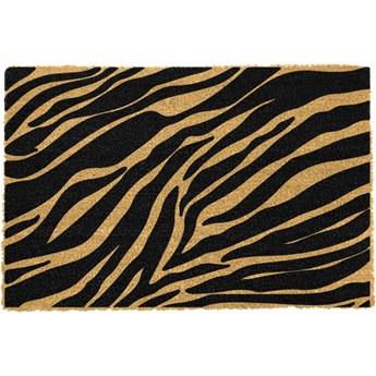 Wycieraczka z naturalnego włókna kokosowego Artsy Doormats Zebra, 40x60 cm