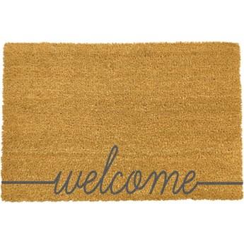 Wycieraczka z naturalnego włókna kokosowego Artsy Doormats Welcome Scribbled, 40x60 cm