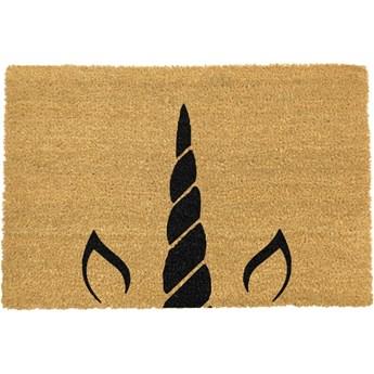 Wycieraczka z naturalnego włókna kokosowego Artsy Doormats Unicorn Horn, 40x60 cm