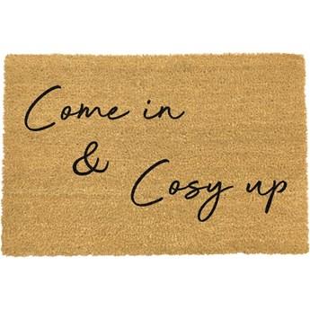 Wycieraczka z naturalnego włókna kokosowego Artsy Doormats Our Home Come In & Cosy Up, 40x60 cm