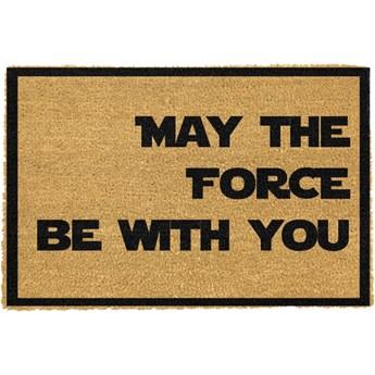 Wycieraczka z naturalnego włókna kokosowego Artsy Doormats May The Force Be With You, 40x60 cm