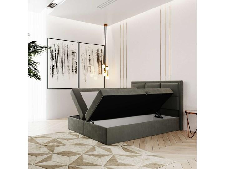 ŁÓŻKO KONTYNENTALNE 160X200 ROMA Kolor Czarny Łóżko tapicerowane Rozmiar materaca 160x200 cm