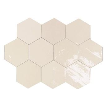 Zellige Hexa White 10,8x12,4 płytki hexagonalne