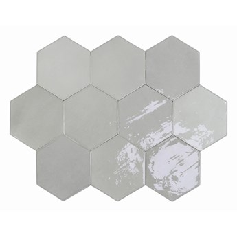 Zellige Hexa Grey 10,8x12,4 płytki hexagonalne