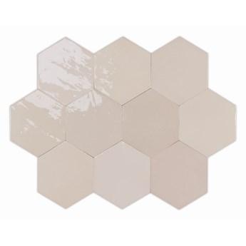 Zellige Hexa Nude 10,8x12,4 płytki hexagonalne