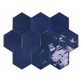 Zellige Hexa Cobalt 10,8x12,4 płytki hexagonalne