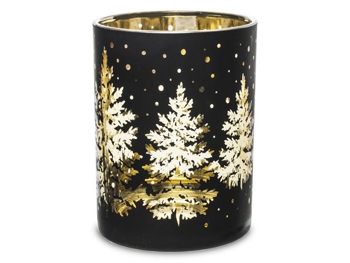 Czarny świecznik Foler 9 cm Kolor Beżowy