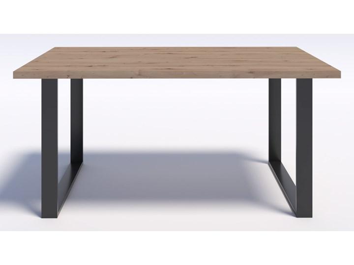 Stół w stylu modern loft NERO 160/90 - Dąb Artisan Metal Długość 160 cm  Płyta MDF Wysokość 75 cm Szerokość 90 cm Drewno Styl Skandynawski