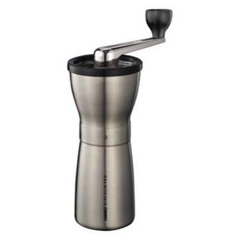 Młynek ręczny ceramiczny HARIO MINI-SLIM PRO - srebrny