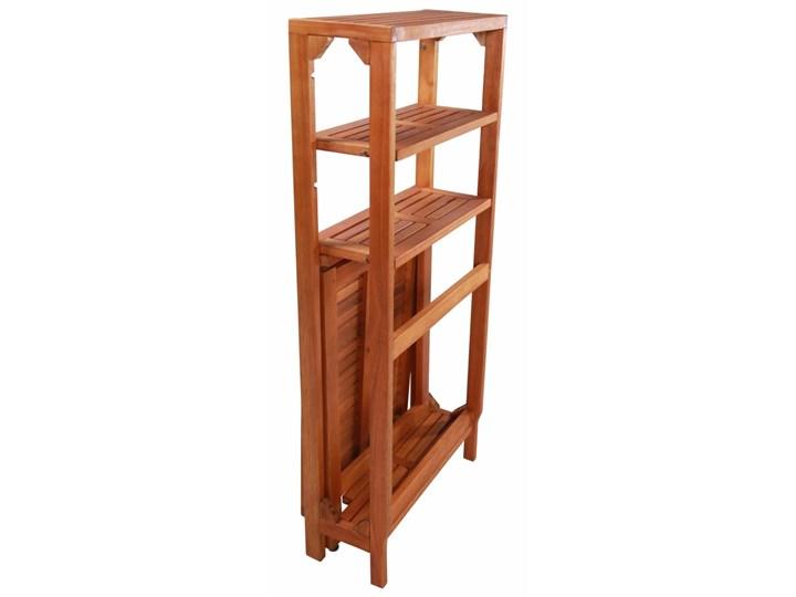 Zestaw drewnianych mebli ogrodowych - Jill Drewno Stoły z krzesłami Kolor Brązowy