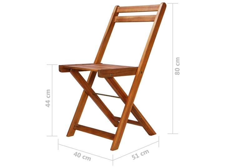 Zestaw drewnianych mebli ogrodowych - Jill Stoły z krzesłami Kolor Brązowy Drewno Kategoria Zestawy mebli ogrodowych
