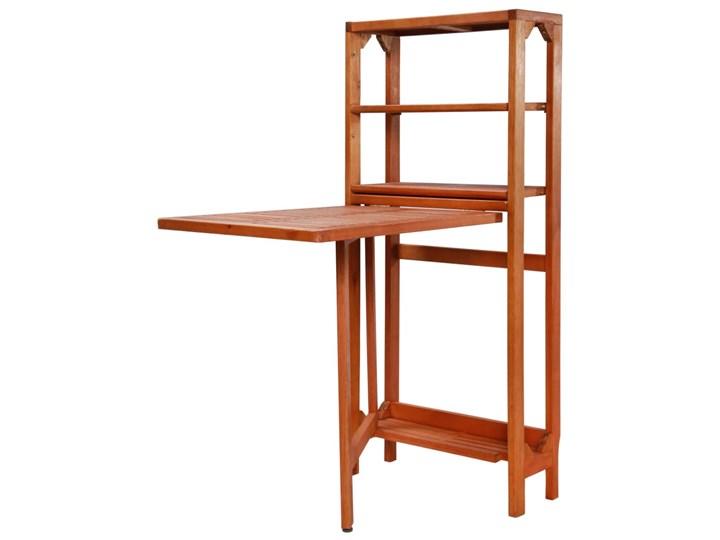 Zestaw drewnianych mebli ogrodowych - Jill Drewno Stoły z krzesłami Styl Nowoczesny Kolor Brązowy