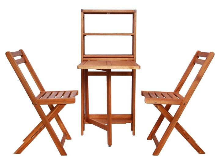 Zestaw drewnianych mebli ogrodowych - Jill Styl Nowoczesny Stoły z krzesłami Drewno Kolor Brązowy