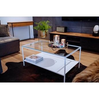 ROSE -  biały stolik ze szklanym blatem