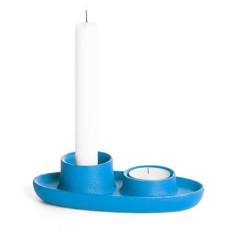 Niebieski świecznik EMKO Aye Aye Two Candles