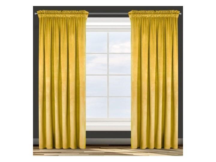 Zasłona Welwetowa Rosa 135x300cm - Musztardowy - Taśma Poliester Kolor Żółty 135x300 cm Kategoria Zasłony