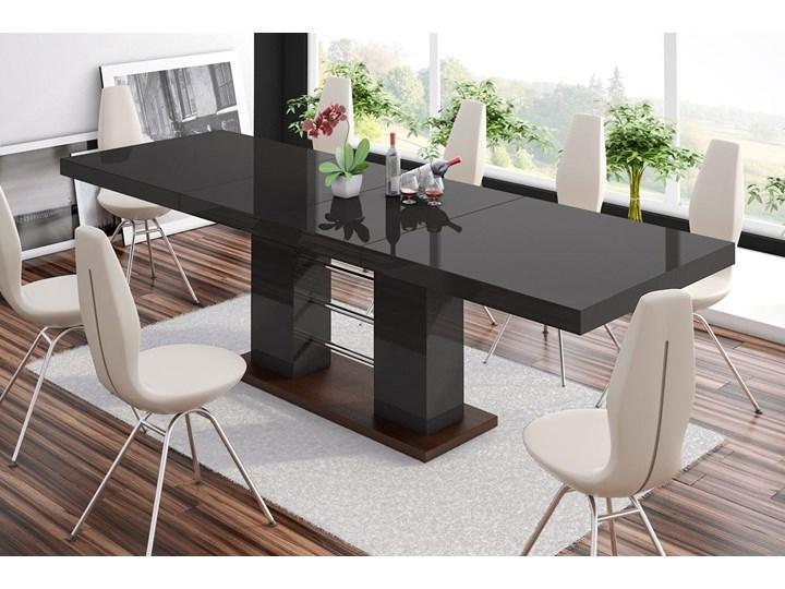 Stół rozkładany LINOSA 2 160-260 cm brąz połysk - Meb24.pl