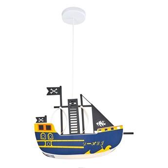 Dziecięca lampa wisząca statek piracki ozcan 4800-1 fioletowy