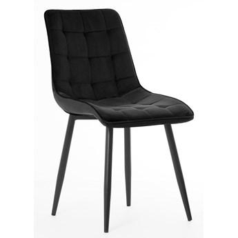 Krzesło MOLI czarny / noga czarna