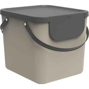 Kosz na śmieci ROTHO 1034407422 Albula 40 L Cappuccino