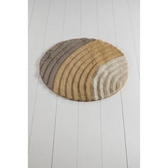Brązowy dywanik łazienkowy Well Cap, ⌀ 90 cm