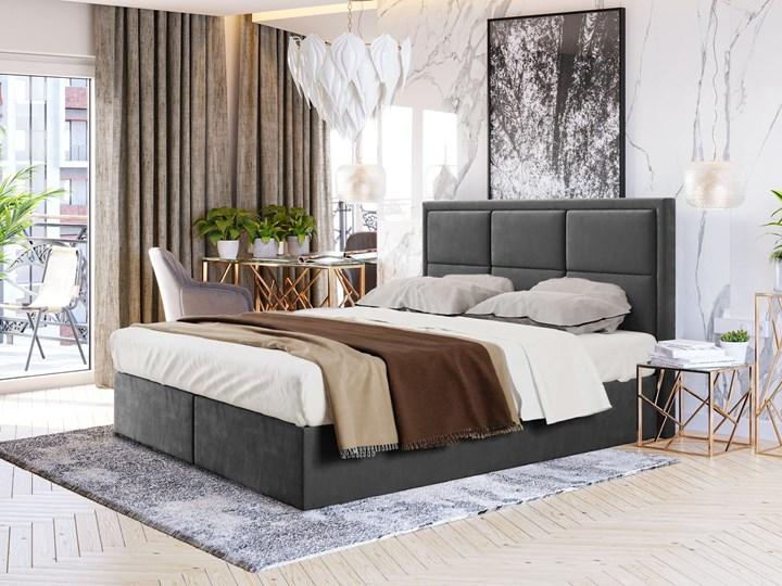 ŁÓŻKO KONTYNENTALNE 160X200 ROMA Rozmiar materaca 160x200 cm Łóżko tapicerowane Kolor Czarny