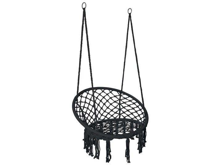 Krzesło fotel wiszący huśtawka TOGO CZARNE Wiszące Metal Styl Skandynawski