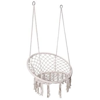 Krzesło fotel wiszący huśtawka TOGO KREMOWE z poduszkami