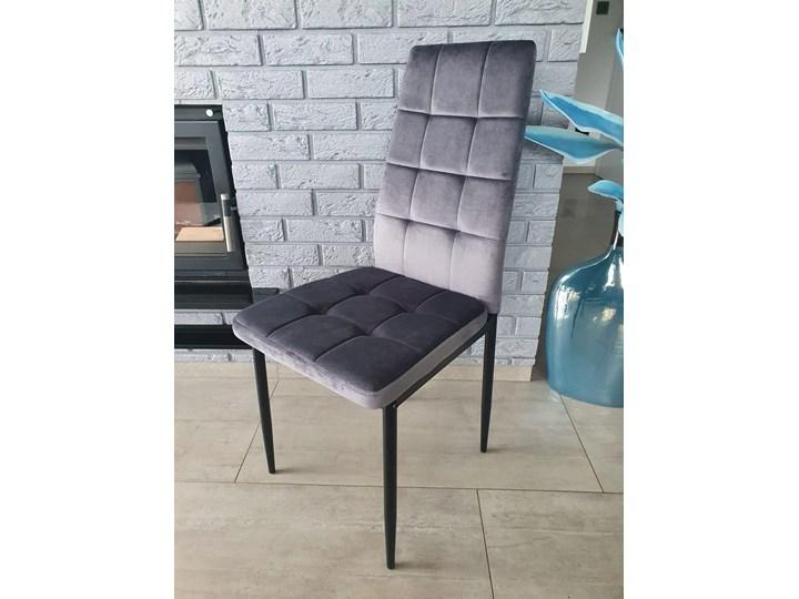 KRZESŁO TAPICEROWANE WELUR CIEMNO SZARE BiG 011 DOSTAWA 0zł Szerokość 43 cm Tkanina Wysokość 100 cm Skóra Styl Nowoczesny Kategoria Krzesła kuchenne