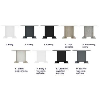 Stół loftowy drewniany Rivers – betonowy szary