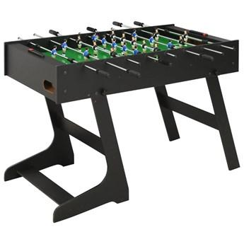 VidaXL Składany stół do piłkarzyków, 121 x 61 x 80 cm, czarny