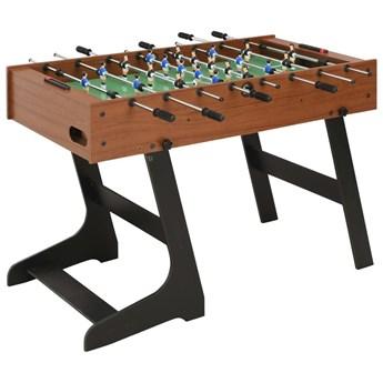 VidaXL Składany stół do piłkarzyków, 121 x 61 x 80 cm, brązowy