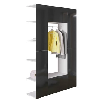 Modna garderoba CUBE 4 Biały + Czarny połysk