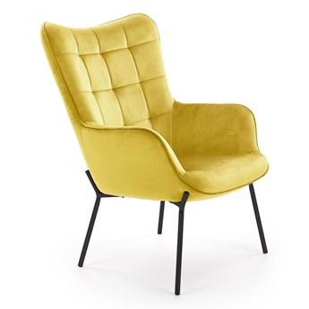Fotel wypoczynkowy CASTEL musztardowy