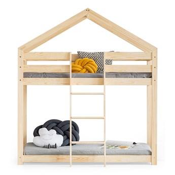Drewniane łóżko piętrowe 90x180 RABBIT