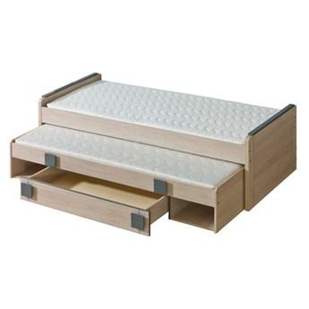 GM16 Łóżko piętrowe z pojemnikiem COMI dąb santana + popiel