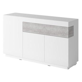 Komoda 3D1SZ SE43 SILKE Biały / Biały połysk - Colorado beton