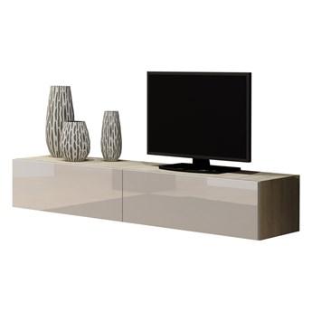 Komoda RTV VIGO VG1E 180 dąb sonoma / biały połysk