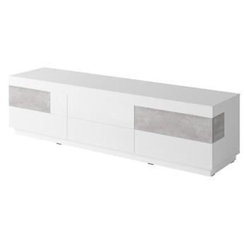 Duża komoda 6SZ SE40 SILKE Biały / Biały połysk - Colorado beton
