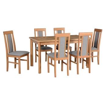 Stół MODENA 1P + krzesła NILO 2(6szt.) - zestaw DX22.