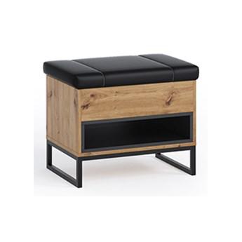 Kufer OLIER OE3 dąb artisan / czarny