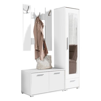 Garderoba HITO Biała z lustrem