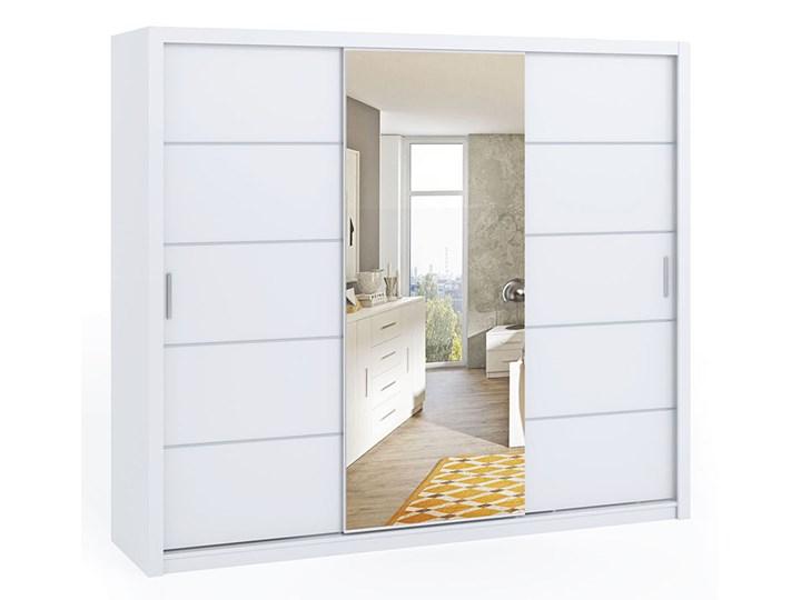 Szafa przesuwna z lustrem BONO 250 biały