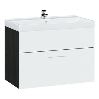 Szafka pod umywalkę LUPO / TIPO LP2 wenge / biały laminat