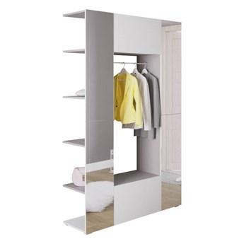 Garderoba CUBE 10 Szary + Biały mat z lustrem