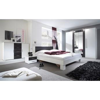 Sypialnia VERA 1  biały / orzech czarny