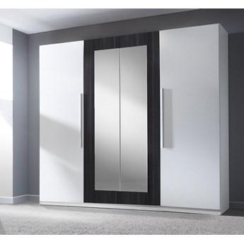 Szafa z lustrem VERA VE20 biały / orzech czarny