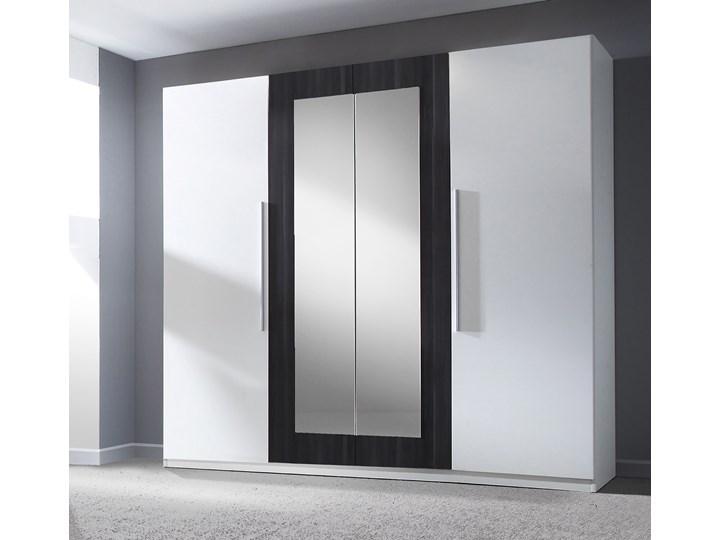 Szafa z lustrem VERA VE20 biały / orzech czarny Kategoria Szafy do garderoby